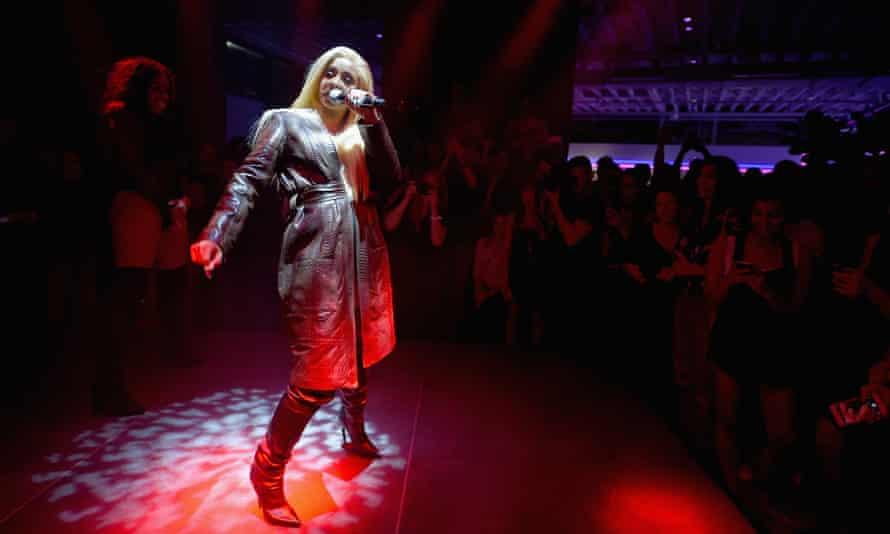 Cardi B performing in New York.