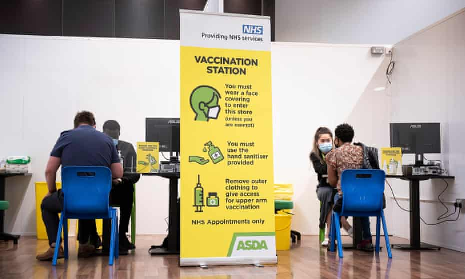A vaccination centre in the UK.
