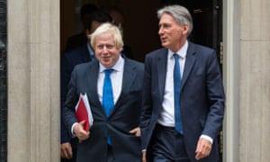 Boris Johnson, left and Philip Hammond pictured in 2017.