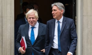 Conservative MPs are split between wanting Thereas May to sack Boris Johnson or Philip Hammond.