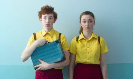 Harrison Feldman and Bethany Whitmore as Elliot and Greta in Girl Asleep.