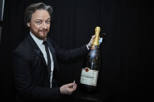 James McAvoy prepares to start the afterparty.