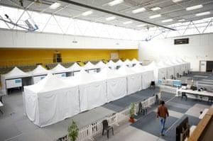 A coronavirus vaccination centre in La Baule, France, on 17 February 2021.