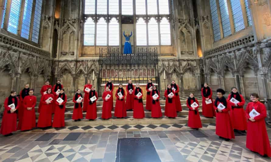 Girl choristers at Ely Cathedral, taken at the recording of Jane Savage's Hymn for Christmas Day.