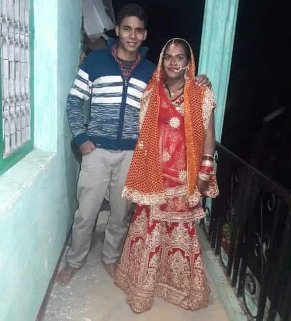 Naresh Kumar and his wife, Kavita