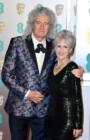 Best supporting act: Brian May and Anita Dobson on hand to support Bohemian Rhapsody.