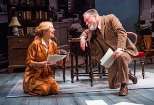 Convincing … Geraldine James as Charlotte and Jeff Rawle as George Bernard Shaw.