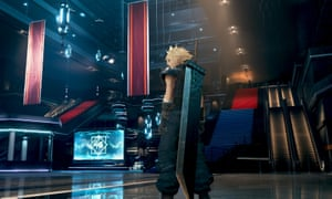 The retro-futuristic architecture of the Shinra building typifies the look of Final Fantasy 7.
