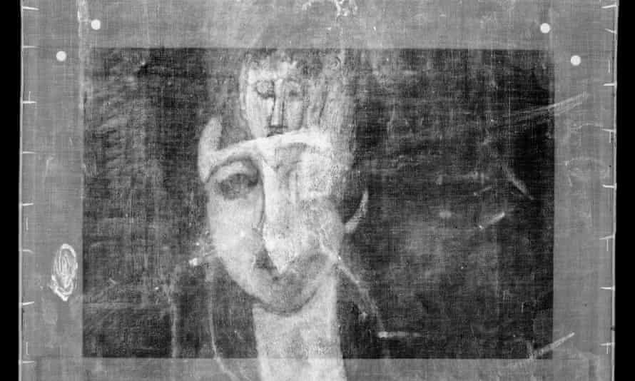 X-ray of Modigliani portrait