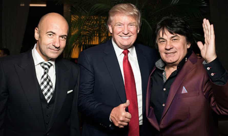 Igor Krutoy, Donald Trump and Aleksander Serov in Moscow during the festivities around Miss Universe 2013.