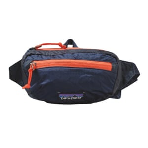 dark blue and orange hip pack Patagonia from Oi Polloi