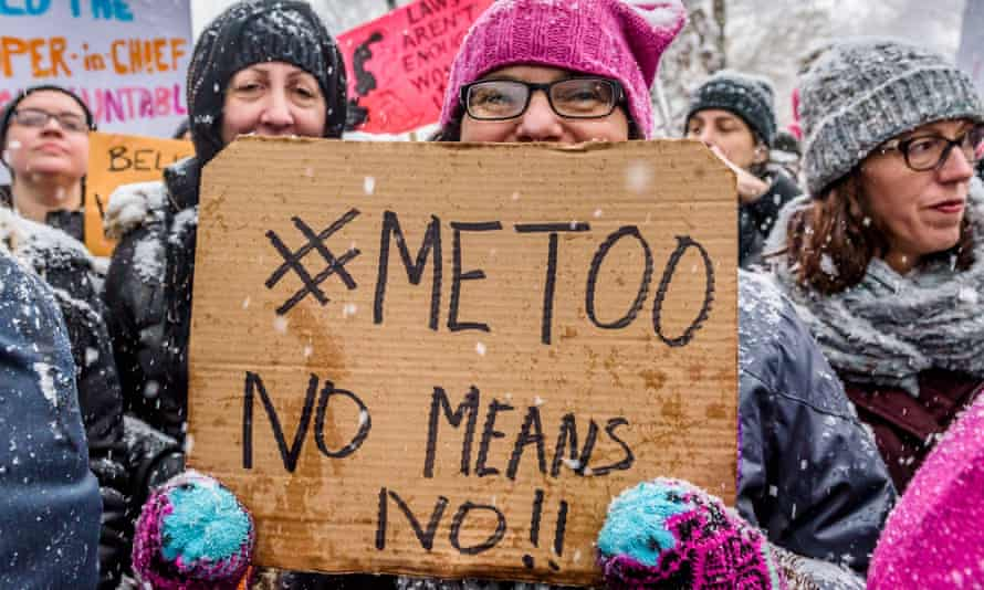 A #MeToo rally in New York, December 2017