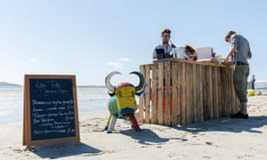 A bar at the Low Tide Event.