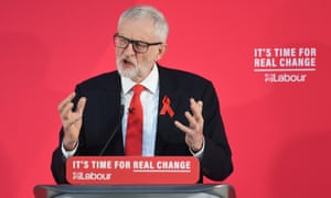 Jeremy Corbyn making a speech on international and foreign policy in York, while on the General Election campaign trail.