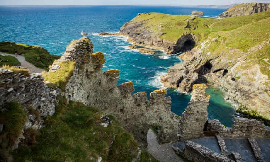 A view from Tintagel Castle in Cornwall