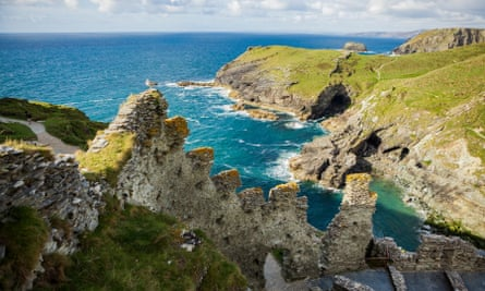 The slate ledge was found during excavations of Tintagel Castle in Cornwall, a site associated with the stories of King Arthur.