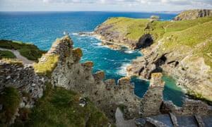 Tintagel Castle coast in Cornwall