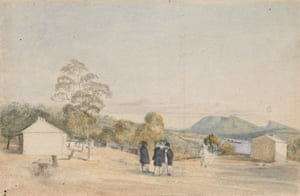 Observatory, Domain, Sir John Franklin, Captain Crozier and Captain James Ross, RN, 1842 by Thomas Bock.