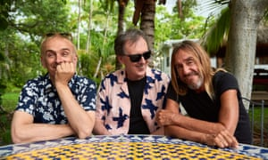 'Not content to rest on their reputations': Iggy Pop with Underworld's Karl Hyde, far left, and Rick Smith