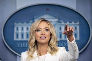Press Secretary Kayleigh McEnany Holds BriefingKayleigh McEnany, White House press secretary, speaks during a briefing in Washington, D.C.