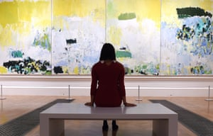 One of two pieces by Joan Mitchell in the Abstract Expressionism show.