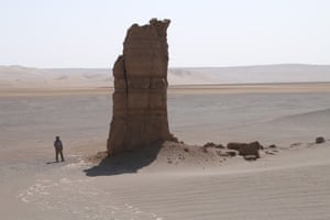 Pillars of fossilised escarpments in Eye of the Lut.