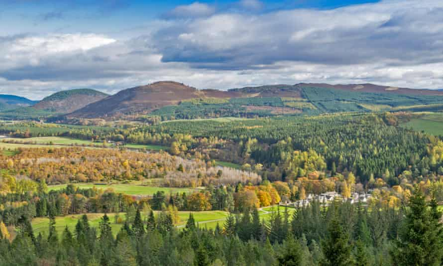 Balmoral estate in Royal Deeside, Aberdeenshire, Scotland, is largely managed for grouse shooting and deer stalking.
