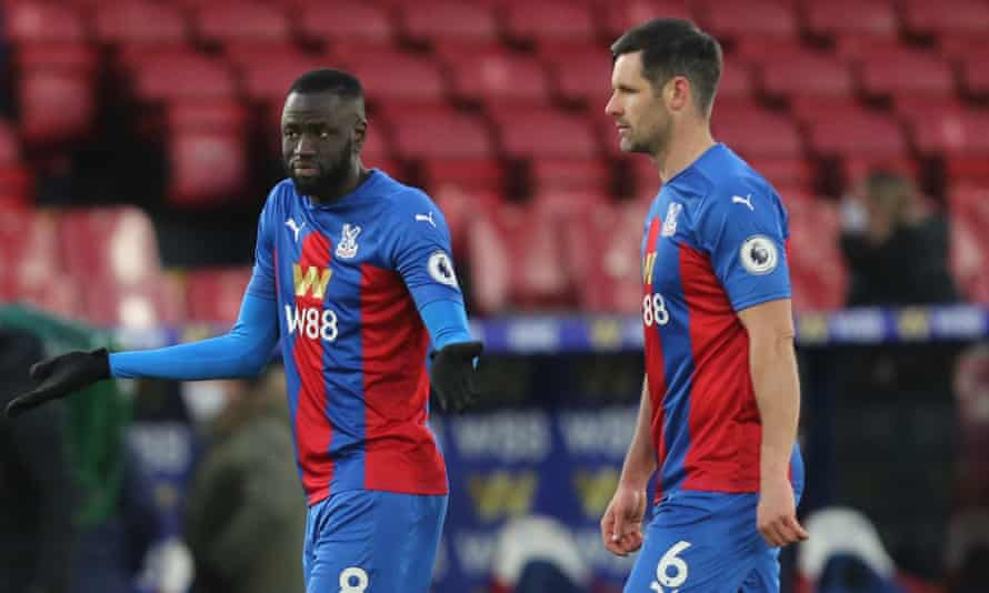 Cheikhou Kouyate (left) and Scott Dann (right) had no answers for Burnley.