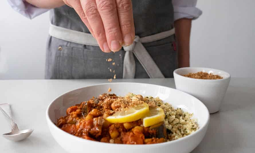 Spiced aubergine tagine from Allplants.
