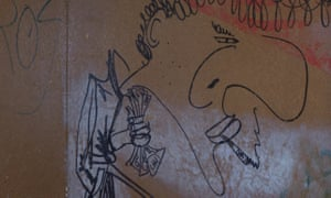 John Lydon's drawing of the Sex Pistols manager, Malcolm Mclaren