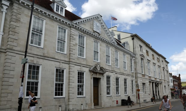 High court building, Lewes, Sussex - soon to be superceded by video?