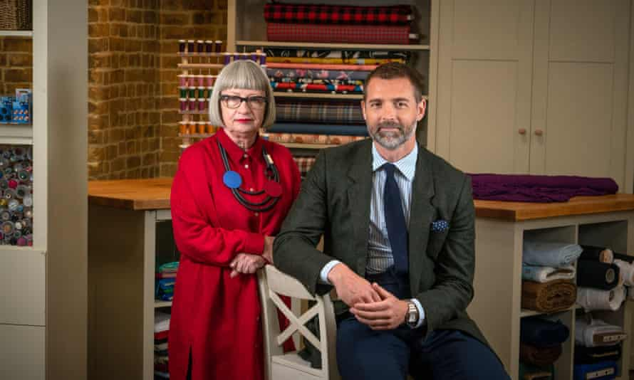 Fabric of society ... judges Esme Young and Patrick Grant.
