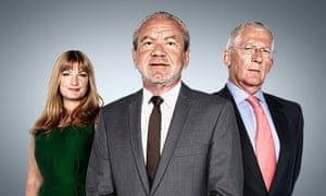 Brady with Alan Sugar and Nick Hewer on the Young Apprentice, 2010.