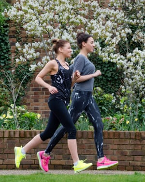 Bella Mackie running with a friend