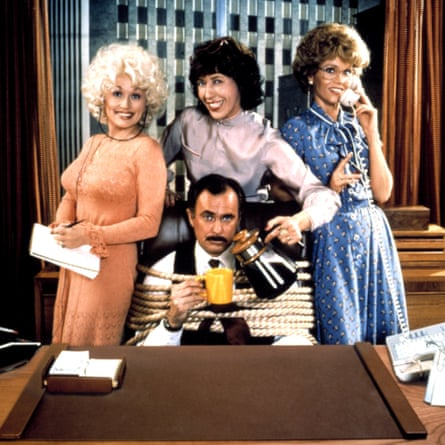 Dolly Parton, Lily Tomlin, Jane Fonda and Dabney Coleman in 9 to 5.