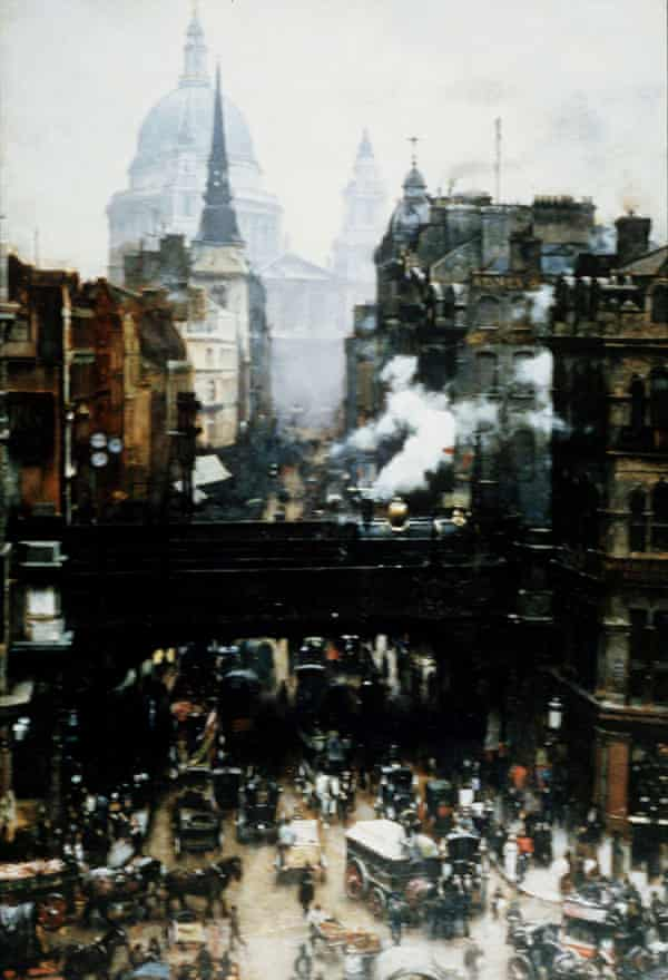 Dramatic change … an 1887 painting of Victorian London by William Logsdill.