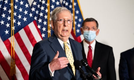Mitch McConnell's sounded 'all but liberated from any more pressure to show compassion before the election' after the failure of the 'skinny' Covid-19 relief bill.