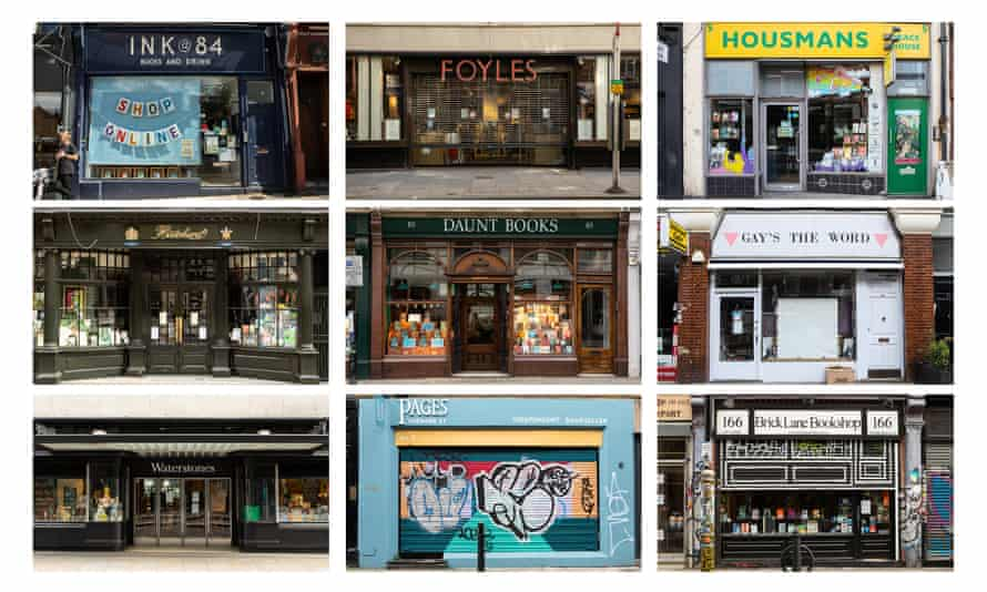 some of the London independent bookshops forced to close by the coronavirus outbreak.