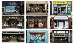Closed bookshops in London last week