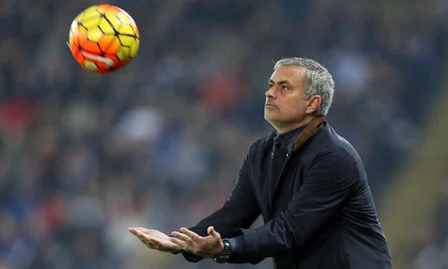 Chelsea's José Mourinho during the Premier League match against Leicester City.