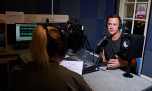 Radio 1's Scott Mills being interviewed at Styal.