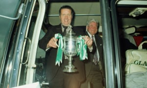 Jock Stein as Celtic manager with the Scottish Cup in 1974.