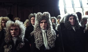 Men in wigs in The Favourite
