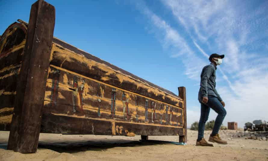 One of the wooden sarcophagi found by Zahi Hawass's team.