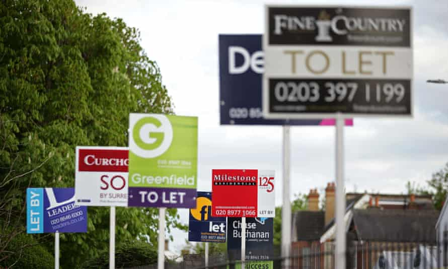 Estate agents' 'to let' signs