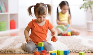 toddlers girls playing at home