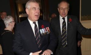 Prince Andrew at the annual Royal British Legion festival of remembrance at the Royal Albert Hall