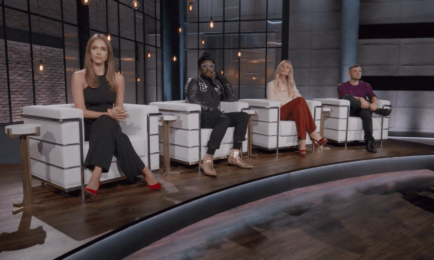 The judging panel on Planet of the Apps: Jessica Alba, will.i.am, Gwyneth Paltrow and Gary Vaynerchuk.