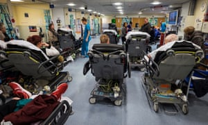 A busy A&E department at Queen's Medical Centre in Nottingham