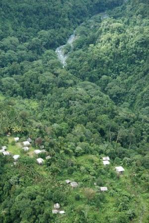 A jungle village on Bougainville.